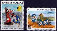 Briefmarkenteilsatz Mark Twain 2 Werte / Rumänien 1985