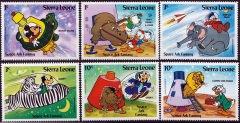 Briefmarkenteilsatz Space Ark Fantasy 6 Werte / Sierra Leone 1983