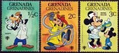 Briefmarkenteilsatz Int. Year of the Child 3 Werte / Grenada Grenadines 1979