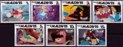 Briefmarkenteilsatz Alice im Wunderland 7 Werte / Malediven