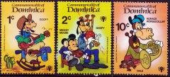 Briefmarkenteilsatz Int. Year of the Child 3 Werte / Dominica 1979