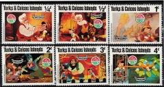 Briefmarkenteilsatz Christmas 1980 Pinocchio 6 Werte / Turks & Caicos Islands 1980