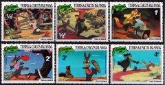 Briefmarkenteilsatz Christmas 1981 Uncle Remus 6 Werte / Turks & Caicos Islands