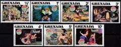 Briefmarkenteilsatz Christmas 1980 Schneewittchen and the Die sieben Zwerge 7 Werte / Grenada 1980