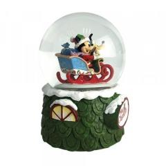 Laughing All the Way - Micky und Pluto Weihnachts-Schneekugel