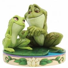 Tiana und Naveen als Frösche: Amorous Amphibians (DISNEY TRADITIONS) Figur