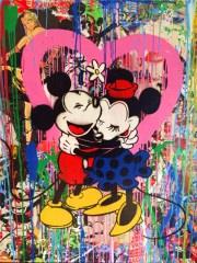 Mickey and Minnie 2015 Canvas-Druck (30x40cm)