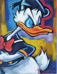 Donald Duck zornig Canvas-Druck (30x40cm)
