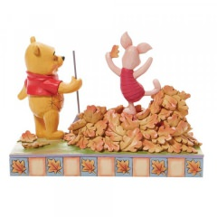 Jumping into Fall - Ferkel and Pooh Autum Leaves (DISNEY TRADITIONS) Figur