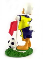 Donald Duck Fußballer (mit Flagge) CARBOMBONIERE Figur 12cm