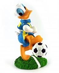 Donald Duck Fußballer (Torschuss) CARBOMBONIERE Figur 12cm