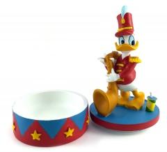 Donald Duck am Saxophone CARBOMBONIERE Figur 13,5cm mit Podest