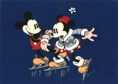 Posterdruck Couple Minnie et Mickey (Serigraphie)