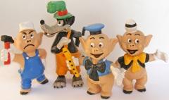 Drei kleine Schweinchen (4 Figuren)