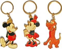 Micky Maus/Minni/Pluto goldene Schlüsselringe (3er Satz)
