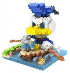 Donald Duck im Ruderboot Nanoblock 3D-Puzzle (530 Teile)