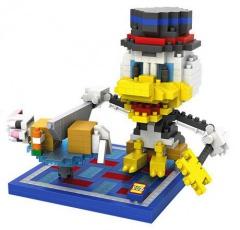 Dagobert Duck mit Hammer und Axt Nanoblock 3D-Puzzle (560 Teile)