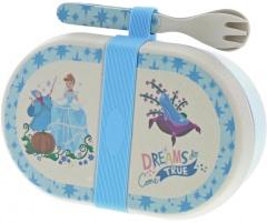 Cinderella Bambus Snack Box mit Besteckset