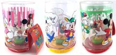 3 Trinkgläser (Tumbler) mit Figur Donald Duck / Micky Maus / Minni Maus
